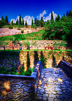 """Ancient bridge to the Convent of cells - founded by San Francesco in Cortona""...<br />