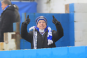 Supporters young and old at Holker Street pre-match  during the The FA Cup 3rd round match between Barrow and Rochdale at Holker Street, Barrow, United Kingdom on 7 January 2017. Photo by Daniel Youngs.