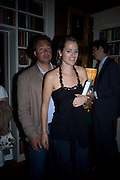 OLIVIER BONAS AND LADY KATE FORTESCUE, Book launch for 'In search of the English Eccentric' by Henry Hemming. 50 Albermarle St. London. W1S 4BD *** Local Caption *** -DO NOT ARCHIVE-© Copyright Photograph by Dafydd Jones. 248 Clapham Rd. London SW9 0PZ. Tel 0207 820 0771. www.dafjones.com.