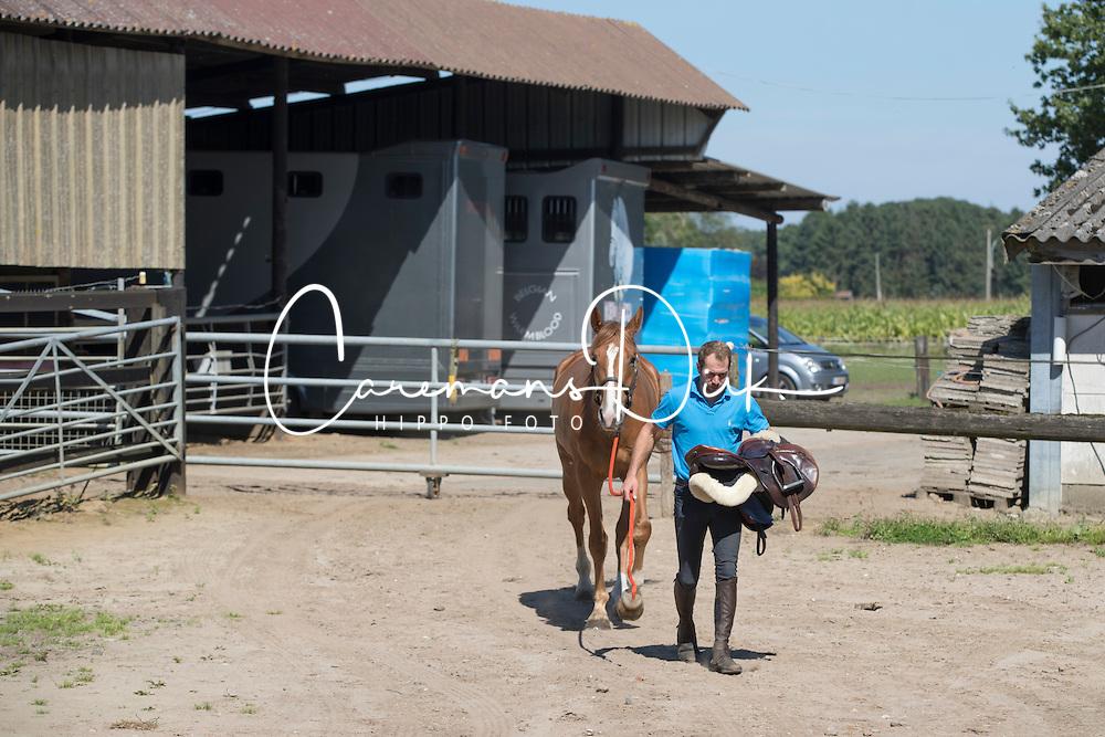 Gust Lenaerts, Ils Lenaerts, Tom Stoffelen <br /> Stal 't Eikenhof - Pulderbos 2016<br /> &copy; Hippo Foto - Dirk Caremans<br /> 23/08/16