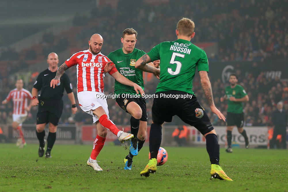 4th January 2015 - FA Cup - 3rd Round - Stoke City v Wrexham - Stephen Ireland of Stoke scores their 2nd goal - Photo: Simon Stacpoole / Offside.