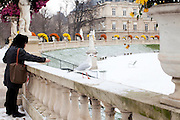 Paris, France. 2 Decembre 2010..Jardin du Luxembourg...Paris, France. December 2nd 2010..Jardin du Luxembourg.