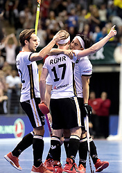 BERLIN - Indoor Hockey World Cup<br /> Final: Germany - Austria<br /> foto: Christopher R&uuml;hr scored the 3-1.<br /> WORLDSPORTPICS COPYRIGHT FRANK UIJLENBROEK