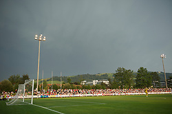 ZUG, SWITZERLAND - Wednesday, July 21, 2010: The Herti Stadium as Liverpool take on Grasshopper Club Zurich during the Reds' first preseason match of the 2010/2011 season at the Herti Stadium. (Pic by David Rawcliffe/Propaganda)