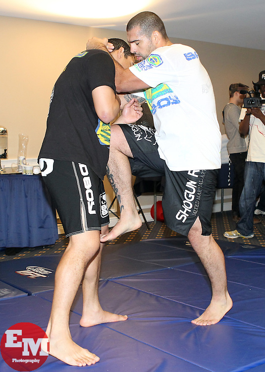 March 17, 2011; Newark, NJ; UFC Light Heavyweight Champion Mauricio Rua works out for the media in preparation for his upcoming fight against Jon Jones at UFC 128 in Newark, NJ.
