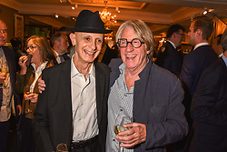 Left to right, David Remfry and Frank Cohen at the third annual Fortnum's x Frank exhibition at Fortnum & Mason, 181 Piccadilly, London, UK on September 12, 2018.<br /> 12 September 2018.