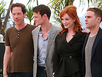Reda Kateb, Matt Smith, Christina Hendricks, Iain De Caestecker, at the photo call for the film Lost River at the 67th Cannes Film Festival, Tuesday 20th May 2014, Cannes, France.