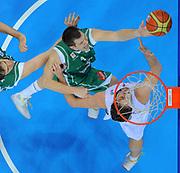 DESCRIZIONE : Kaunas Lithuania Lituania Eurobasket Men 2011 Quarter Final Round Spagna Slovenia Spain Slovenia<br /> GIOCATORE : Uros Slokar<br /> CATEGORIA : tiro special<br /> SQUADRA : Slovenia<br /> EVENTO : Eurobasket Men 2011<br /> GARA : Spagna Slovenia Spain Slovenia<br /> DATA : 14/09/2011<br /> SPORT : Pallacanestro <br /> AUTORE : Agenzia Ciamillo-Castoria/T.Wiendesohler<br /> Galleria : Eurobasket Men 2011<br /> Fotonotizia : Kaunas Lithuania Lituania Eurobasket Men 2011 Quarter Final Round Spagna Slovenia Spain Slovenia<br /> Predefinita :
