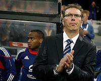 Fotball , 11. august 2010 , Privatkamp<br /> Norge - Frankrike 2-1<br /> Norway - France 2-1<br /> <br /> Ny trener for Frankrike , Laurent Blanc