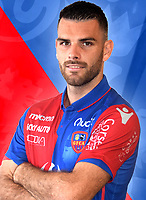 Yoann Court during photoshooting of Gazelec Ajaccio for new season 2017/2018 on September 26, 2017 in Ajaccio<br /> Photo : Gfca / Icon Sport