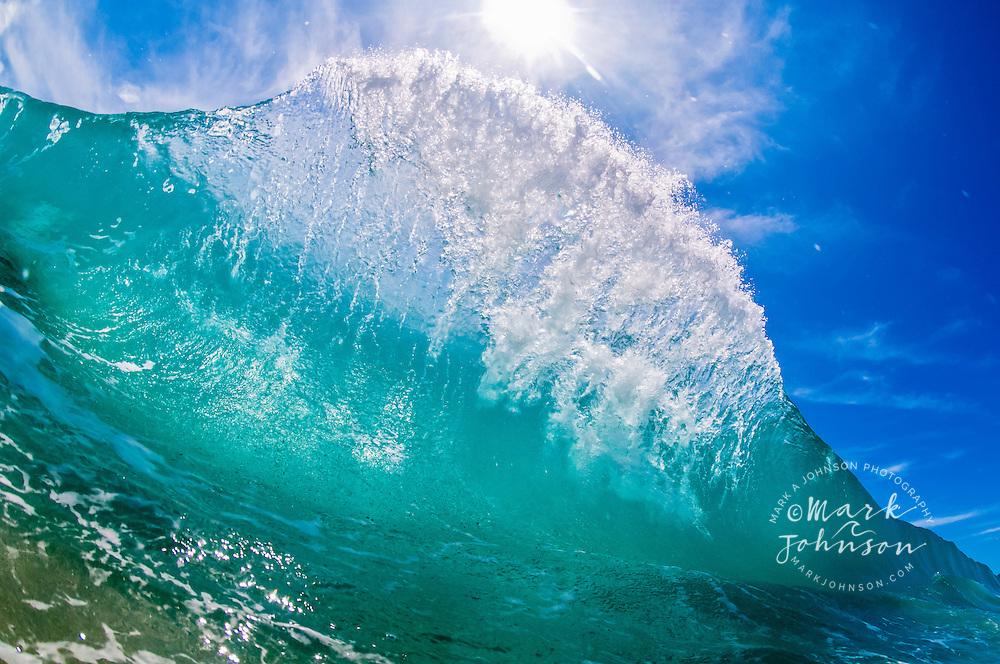 Breaking shorebreak wave, Baja California Sur, Mexico