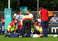 Rugby Union - 2017 Women's Rugby World Cup (WRWC) - Pool B: USA vs. Italy<br /> <br /> Italy's Lucia Cammarano is treated by medical staff, at Billings Park UCD, Dublin.<br /> <br /> COLORSPORT/KEN SUTTON