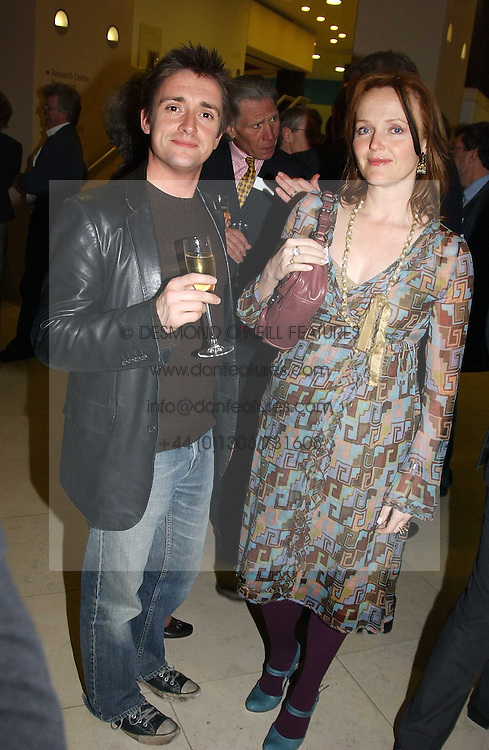 TV presenter RICHARD HAMMOND and actress MIRANDA RICHARDSON at a the Orion Publishing Group Author Party and a private view of the 'Turner Whistler Monet' exhibition at Tate Britain, Atterbury Street, London SW1 on 23rd February 2005.<br />