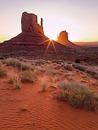 Sunrise, The Mittens, Monument Valley, Arizona