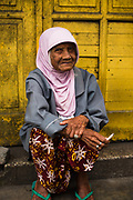 Portrait of a woman in Malang city, West Java