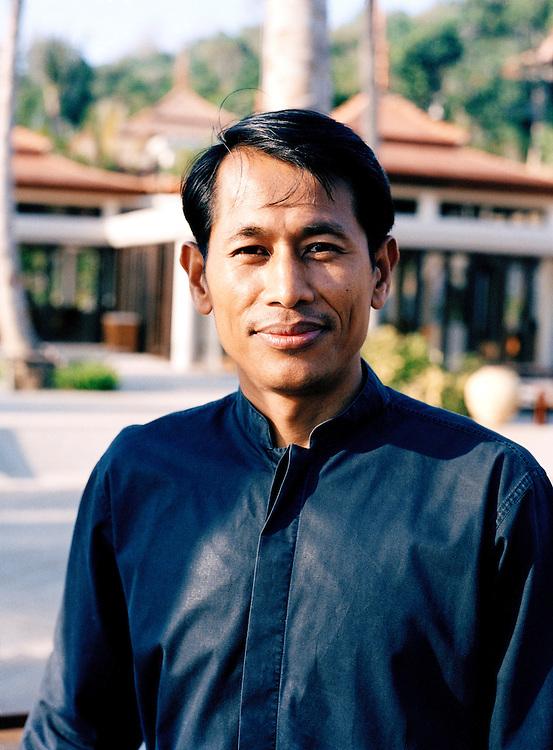 Hotel worker at the 5-star Trisara Resort