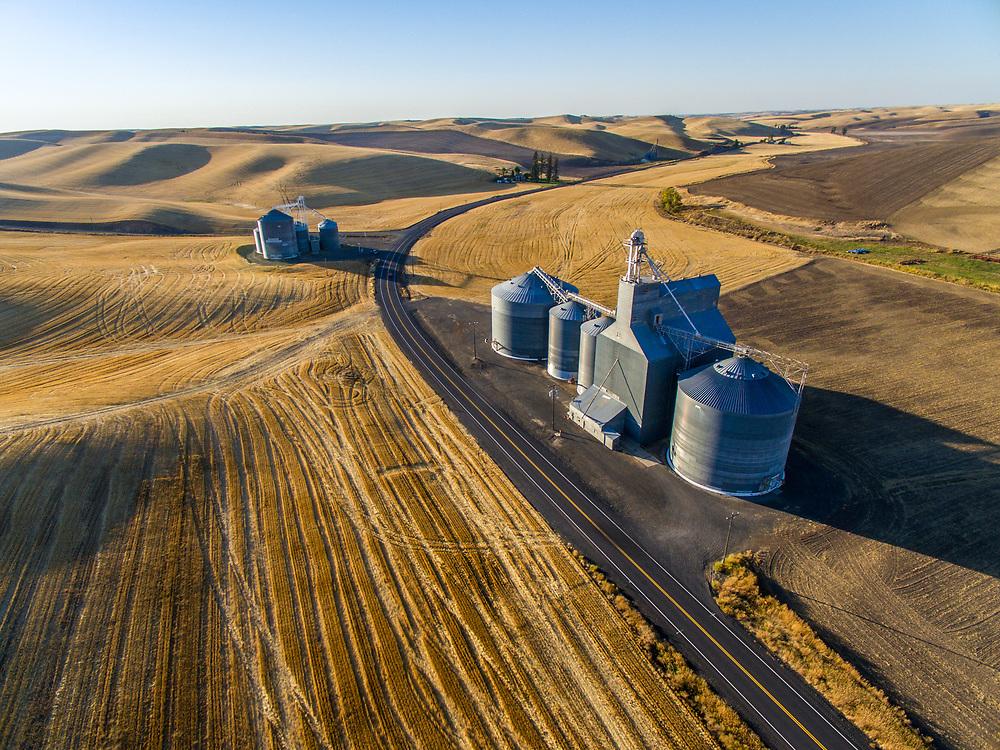 Grain Bins near St. John Washington