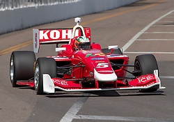 March 9, 2019 - St. Petersburg, FL, U.S. - ST. PETERSBURG, FL - MARCH 09: Lucas Kohl (5) during the start of the Indy Lights Race of St. Petersburg on March 9 in St. Petersburg, FL. (Photo by Andrew Bershaw/Icon Sportswire) (Credit Image: © Andrew Bershaw/Icon SMI via ZUMA Press)