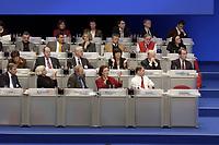 17 NOV 2003, BOCHUM/GERMANY:<br /> Die Mitglieder des Parteirates auf dem Podium waehrend der Rede von Gerhard Schroeder (nicht im Bild), SPD, Bundeskanzler, SPD Bundesparteitag, Ruhr-Congress-Zentrum<br /> IMAGE: 20031117-01-096<br /> KEYWORDS: Parteitag, party congress, SPD-Bundesparteitag