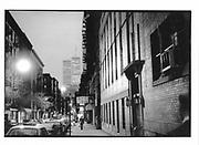 Twin Towers from Soho in the evening light. Manhattan. New York. 1992. © Copyright Photograph by Dafydd Jones 66 Stockwell Park Rd. London SW9 0DA Tel 020 7733 0108 www.dafjones.com