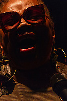 """The 12th annual Hyde Park Jazz Festival was held this weekend, Saturday, September 29th and Sunday, September 30th, 2018 at various venues around Hyde Park. Jazz musicians from all around came out to play at the two-day event. <br /> <br /> 3424 – Dee Alexander performed Sunday evening on the Midway Plaisance located at 1130 Midway Plaisance on the University of Chicago campus.<br /> <br /> Please 'Like' """"Spencer Bibbs Photography"""" on Facebook.<br /> <br /> Please leave a review for Spencer Bibbs Photography on Yelp.<br /> <br /> Please check me out on Twitter under Spencer Bibbs Photography.<br /> <br /> All rights to this photo are owned by Spencer Bibbs of Spencer Bibbs Photography and may only be used in any way shape or form, whole or in part with written permission by the owner of the photo, Spencer Bibbs.<br /> <br /> For all of your photography needs, please contact Spencer Bibbs at 773-895-4744. I can also be reached in the following ways:<br /> <br /> Website – www.spbdigitalconcepts.photoshelter.com<br /> <br /> Text - Text """"Spencer Bibbs"""" to 72727<br /> <br /> Email – spencerbibbsphotography@yahoo.com<br /> <br /> #SpencerBibbsPhotography #HydePark #Community #Neighborhood<br /> #Music<br /> #HydeParkJazzFestival<br /> #Jazz<br /> #LiveMusic<br /> #DeeAlexander"""