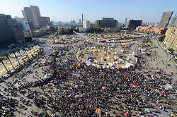 Egyptians gather at Cairo's iconic Tahrir Square during a demonstration marking the second anniversary of the 2011 unrest that toppled former leader Hosni Mubarak, Egypt, January 25, 2013. Photo by Imago / i-Images...UK ONLY