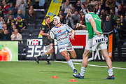 Patrick Lambie (raci) scored a try during the French Championship Top 14 Rugby Union match between Racing 92 and La Rochelle on february 18, 2018 at U Arena in Nanterre, France - Photo Pierre Charlier / ProSportsImages / DPPI