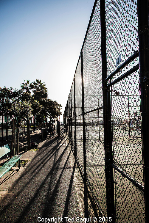 Near the handball courts.<br /> Venice Beach story for LA Weekly