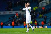 Leeds United forward Tyler Roberts (11) reacts during the EFL Sky Bet Championship match between Leeds United and Queens Park Rangers at Elland Road, Leeds, England on 2 November 2019.