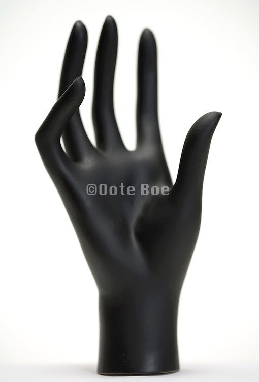 a mannequin's hand partial focused