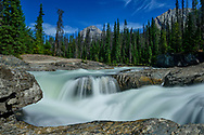 North America, Canada, Canadian,Alberta, Rocky Mountains, Yoho National Park, UNESCO, World Heritage, Kicking Horse River, Natural Bridge