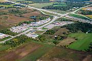 Vista across Dane County and Interstate 90, near McFarland, Wisconsin, USA.