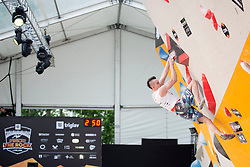 Jernej Kruder (SLO) at Semifinal of Climbing event - Triglav the Rock Ljubljana 2018, on May 19, 2018 in Congress Square, Ljubljana, Slovenia. Photo by Urban Urbanc / Sportida