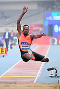 Damar Forbes (JAM) places seventh in the long jump at 26-2 3/4 (7.99m) during the IAAF Diamond League Shanghai 2018 in Shanghai, China, Saturday, May 12, 2018. (Jiro Mochizukii/Image of Sport)