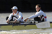 Putney. GREAT BRITAIN,  GER M8+, Bow, [right] Joerg DIESSNER, Stephan KOLTZK, during the Cambridge University  vs German National Eight race,  raced over the Boat Race Course, on the River Thames, London, on Sat.  03.03.2007,  [Photo Peter Spurrier/Intersport Images] .  [Mandatory Credit, Peter Spurier/ Intersport Images]. , Rowing Course: River Thames, Championship course, Putney to Mortlake 4.25 Miles, , Varsity Boat Race.