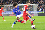 Josh Windass (10) & Hamza Choudhury (20) during the The FA Cup match between Leicester City and Wigan Athletic at the King Power Stadium, Leicester, England on 4 January 2020.
