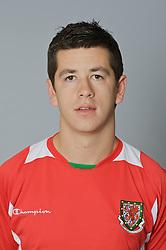 SWANSEA, WALES - Monday, March 30, 2009: Wales' Under-21 Lloyd James. (Photo by David Rawcliffe/Propaganda)