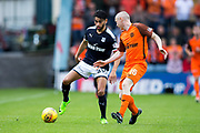 Dundee forward Faissal El Bakhtaoui (#20) is closely watched by Dundee United midfielder Willo Flood (#16) during the Betfred Scottish Cup group stage match between Dundee and Dundee United at Dens Park, Dundee, Scotland on 29 July 2017. Photo by Craig Doyle.