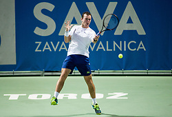 Dominik Koepfer (GER) in action during 2nd Semifinal match at Day 8 of ATP Challenger Zavarovalnica Sava Slovenia Open 2018, on August 10, 2018 in Sports centre, Portoroz/Portorose, Slovenia. Photo by Vid Ponikvar / Sportida