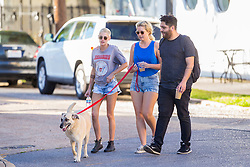 EXCLUSIVE: Kristen Stewart looks a little down in the dumps as she emerges without girlfriend Stella Maxwell with bruises and dirt all over her legs and arms. Kristen could be seen walking her dog with friends but seemed preoccupied by her phone. Her knees and legs had clear visible bruising as she walked through the streets on New Orleans in cut-off daisy duke shorts and a very torn 'Ramones' t-shirt.Kristen could be seen sitting at a coffee shop drinking iced coffee, texting and staring into space. 10 May 2017 Pictured: Kristen Stewart. Photo credit: MEGA TheMegaAgency.com +1 888 505 6342