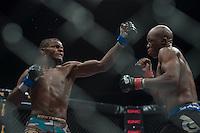 Alain Ilunga vs. Conrad Seabi. Fight 1, LightWeight, at EFC Worldwide 36, The Dome, Northgate, Johannesburg. <br /> (Photo by Anton Geyser / EFC Worldwide 2014)