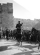 General  Allenby entering Jerusalem at the Jaffa Gate, 11 December, 1917. Edmund Allenby, 1st Viscount Allenby (1861-1936), a British soldier. In World War  I commanded the Egyptian Expeditionary Force in Palestine and Syria.