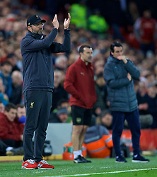 LIVERPOOL, ENGLAND - Saturday, December 29, 2018: Liverpool's manager Jürgen Klopp after the FA Premier League match between Liverpool FC and Arsenal FC at Anfield. (Pic by David Rawcliffe/Propaganda)