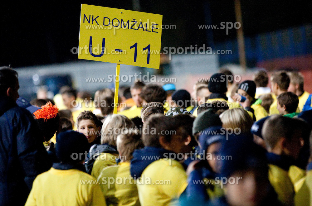 Young Players of NK Domzale during celebration of 90-years Anniversary of NK Domzale on October 15, 2011, in Stadium Sports park, Domzale, Slovenia.   (Photo by Vid Ponikvar / Sportida)