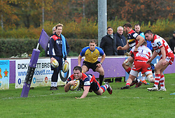 Nick Freeman of Bristol United scores a try - Mandatory by-line: Paul Knight/JMP - 18/11/2017 - RUGBY - Clifton RFC - Bristol, England - Bristol United v Gloucester United - Aviva A League