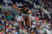 Ese Brume (Nigeria), Long Jump Women - Final, during the 2019 IAAF World Athletics Championships at Khalifa International Stadium, Doha, Qatar on 6 October 2019.