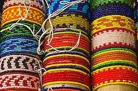 Kuna Indian bracelets, Corbisky Island, San Blas Islands (Kuna Yala), Caribbean Sea, Panama