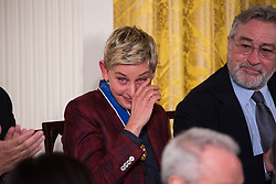 November 22, 2016 - Washington, DC, United States - President Barack Obama awarded the Presidential Medal of Freedom to comdian, TV host, and actress, Ellen DeGeneres  (Credit Image: © Cheriss May/NurPhoto via ZUMA Press)