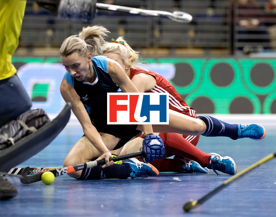 BERLIN - Indoor Hockey World Cup<br /> Women: Kazakhstan - Belarus<br /> foto: <br /> WORLDSPORTPICS COPYRIGHT FRANK UIJLENBROEK