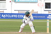 Hassan Azad ducks a short ball during the Specsavers County Champ Div 2 match between Leicestershire County Cricket Club and Lancashire County Cricket Club at the Fischer County Ground, Grace Road, Leicester, United Kingdom on 26 September 2019.